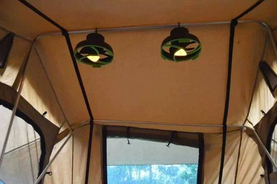 Tent Fan With Led Light Ironman 4x4 Nz