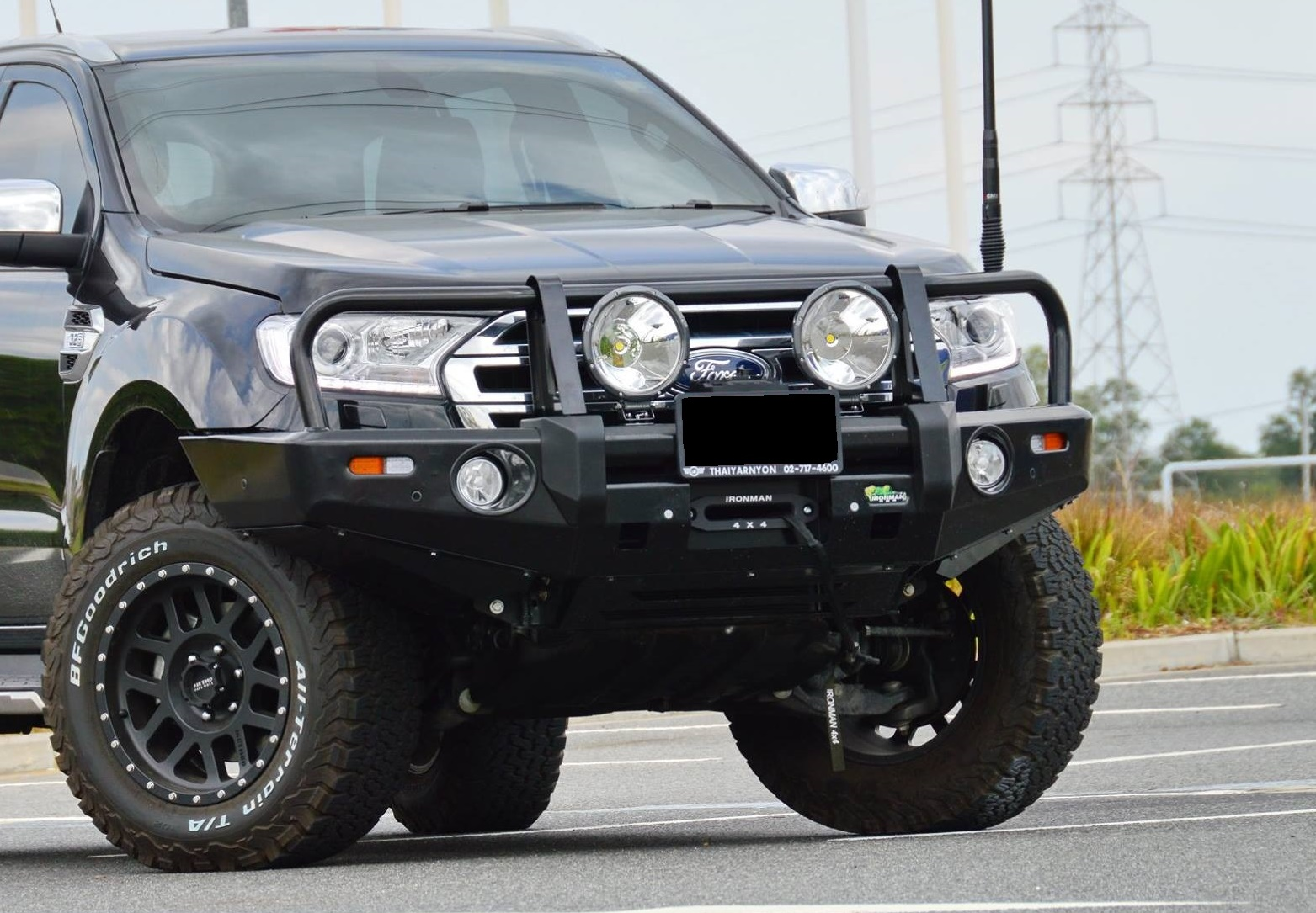 Ford Px Pxii Ranger Deluxe Commercial Bull Bar Ironman