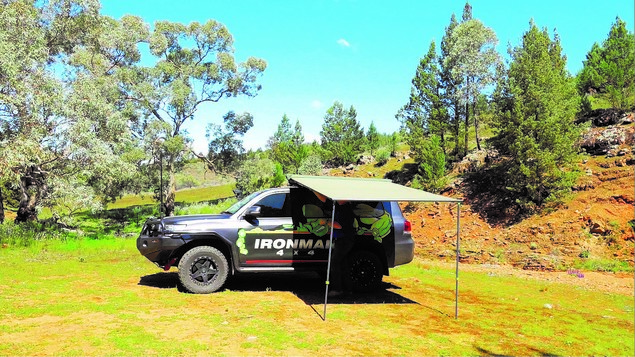 Instant Awning with Brackets 2.5m (L) x 2.5m (Out) with LED